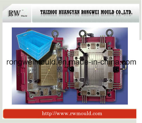 China Plastic Household Crate Mould Injection Moulding