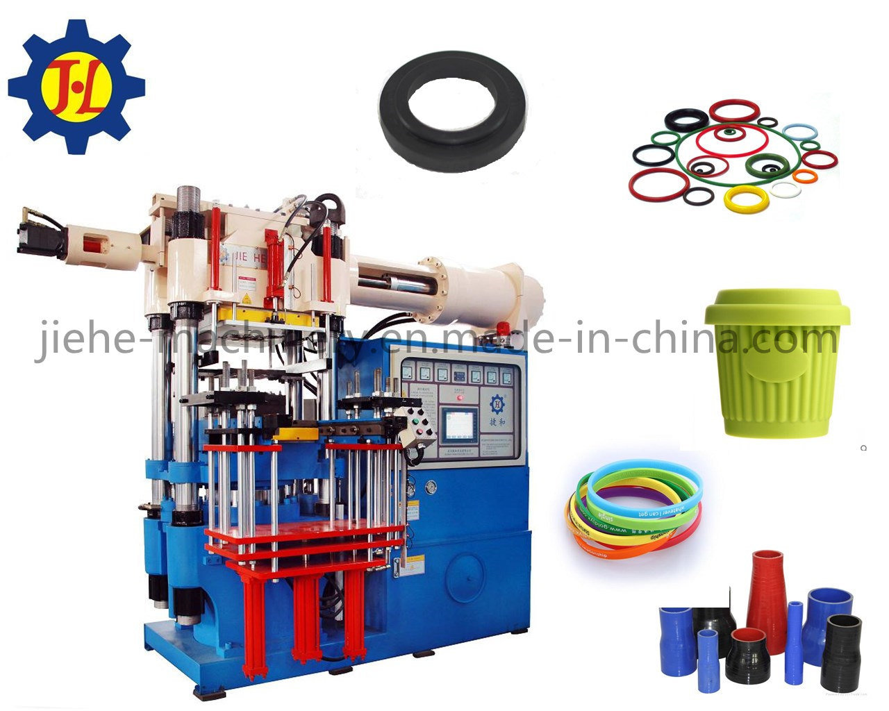 Horizontal rubber silicone bellows injection moulding
