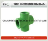 Injection Plastic Cross Pipe Fitting Mould