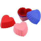 Food Grade Heart Shape Silicone Baking Trays Cake Mould