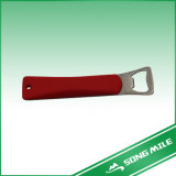 Red Silicone Stainless Steel Food Tongs for Beer Opener