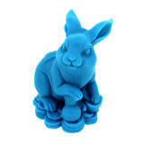 R1107 Rabbit 3D Year Animal Handmade Silicone Decorating Craft Mould for Soap and Candles