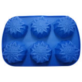 FDA Flower Shape Silicone Cake Mold (XH-011019)