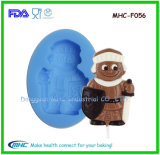 Santa Claus Shape Slilicone Fondant Mould for Dessert