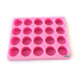Multi Cavity Round Silicone Soap Mould Large Size Heavy Duty Natural Silicon Soap Molds R0409