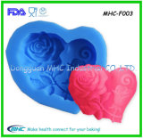Heart Pattern Silicone Fondant Mold with High Quality