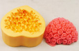 Valentine's Day Heart Soap Mold Rose Soap Molds Silicone Rubber Mold (R0461)