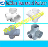 Plastic Pipe Fitting 45 Degree 90 Degree Tee Cross Mould