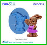 Mhc Private Design Rabbit Shape Silicone Cake Decorating Mould for Bakery