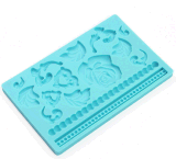 Eco-Friendly Rose and Leaf Silicone Cake Mould