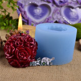 Rose Ball Silicone Candle Mould Lz0091
