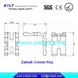 Zinc Corner Key Pressure Moulding Parts for Construction Decoration Assembly