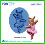 Dancing Rabbit Pattern Fondant Cake Mould for Decorating
