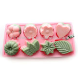 Silicone Rubber Chocolate Mould Cake Mould 8-Cavity Moulds for Cake Silicone Mould Tray B0140
